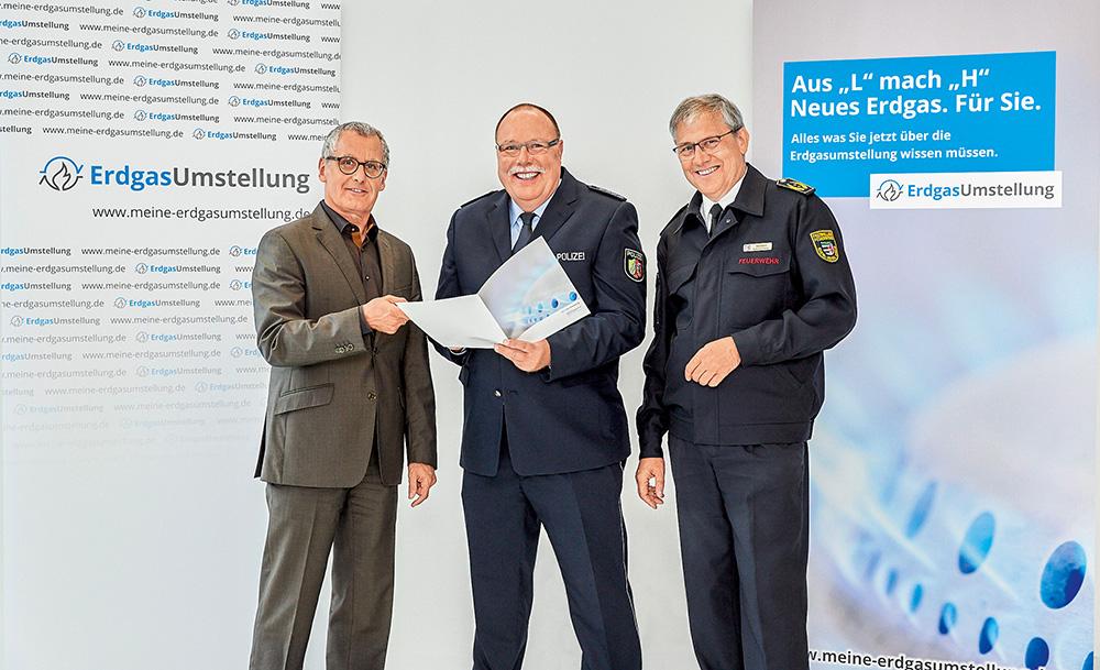 ErdgasUmstellung Sicherheit durch Zusammenarbeit mit Polizei und Feuerwehr